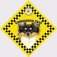 Chihuahua (blk/tan) Taxi - Car Window Swinger Dog Sign