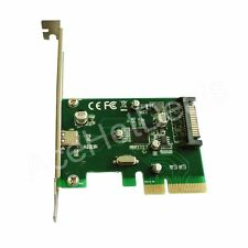 PCI-E Express 4x to USB 3.1 Type C USB-C Add on Expansion Card Adapter