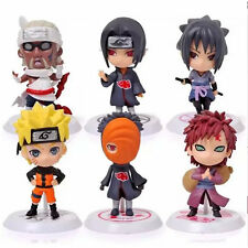 Gaara Uzumaki Figure 6 Pcs Anime New Sasuke Stand Naruto Cartoon PVC Doll Uchiha