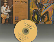 Carlos SANTANA w MUSIQ Nothing At all RADIO EDIT & INSTRUMENTAL PROMO CD Single