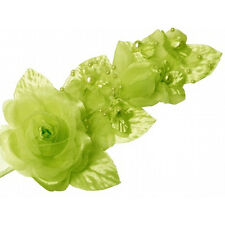 "3 apple green Silk Pearl & organza flower  Corsages 5""x 2.5 with pearl pin"