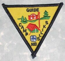 "Girl Guides Camp Skills Patch - Canada -  3 1/8"" x 2 5/8"""