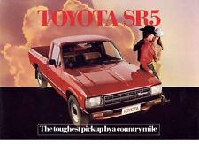 1981 TOYOTA N40 SR-5 PICKUP Australian Brochure HILUX