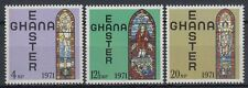 Ghana 1968 ** Mi.428/30 Ostern Easter Kirchenfenster Church Glasses [sr2224]