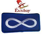 (2 Pack) Patch Métis Flag Blue Écusson Drapeau Métis Bleu Étchiboy Sewing