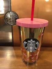 Starbucks Tiny Hearts Cold Cup Acrylic Limited Edition TUMBLER 16fl oz 2017 NEW!