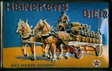 HEINEKEN BIER Vintage Metal Pub Sign | 3D Embossed Steel | Home Bar