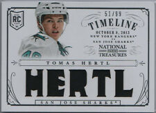 TOMAS HERTL 13-14 National Treasures Timeline 51/99 RC