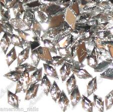100 Bijoux d'Ongles Strass Nail Art LOSANGES Couleur cristal