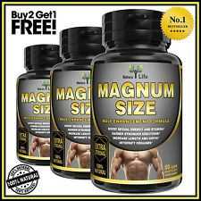 MALE PENIS ENLARGER GROWTH PILLS GET BIGGER GROW LONGER THICKER GAIN SIZE/GIRTH