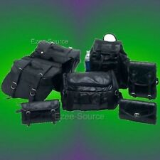 HONDA VTX-1300C 1300 C SADDLE BAGS LEATHER TOUR SET 7pc