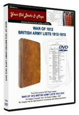 WAR OF 1812 BRITISH ARMY LISTS 1812-1815 COLLECTION DVD