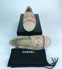 CHANEL ESPADRILLES , PINK TWEED . SIZE 39. BRAND NEW