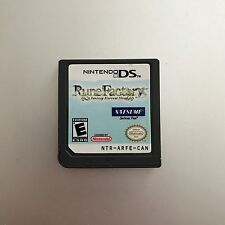 Rune Factory: A Fantasy Harvest Moon (Nintendo DS, 2007) Game Only