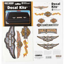 Original Harley Davidson HD Logo Emblem Aufkleber Decal Sticker Set Kit 8 Stück