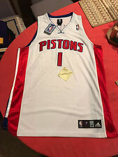 NBA adidas Chauncey billups Detroit pistons authentic pro cut jersey Size 48
