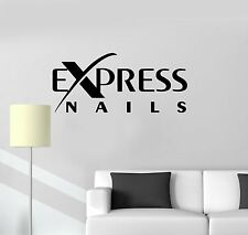 Vinyl Decal Express Nails Quote Logo Beauty Salon Wall Stickers Mural (ig3438)