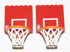 LEGO LOT OF 2 RED NBA BASKETBALL SPORTS HOOPS PARTS