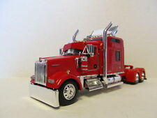 DCP 1/64 SCALE W-900 KENWORTH STUDIO SLEEPER RED WITH CUSTOM PARTS(TRACTOR ONLY)