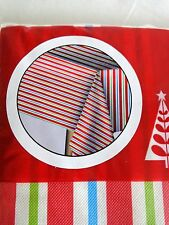 Christmas Tablecloth 52 x 70 Rectangle Red Stripes Polyester Lining