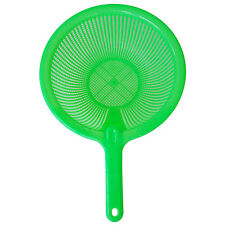 Plastic Long Handle Rice Colander Strainer Filter Green B3