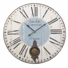 EXTRA LARGE Wood Pendulum Vintage Wall Clock 58cm Diameter Heaven Sends French