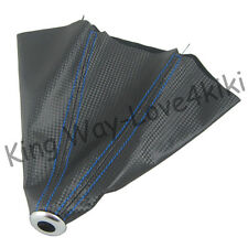 NEW BLUE STITCH COW LEATHER SHIFT BOOT FOR M/T MANUAL SHIFT GEAR COVER SHIFTER