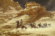 Frank McCarthy DUST STAINED POSSE, Outlaw Trail Anniversary giclee canvas #35/35