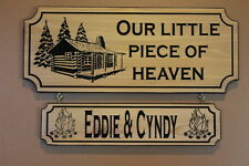 Personalized Custom Carved Wood Plaque Family Last Name Sign Couple Wedding Gift