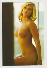Postcard Erotic Nude Sexy Girl Topless Breast Blonde Woman Superb Post Card 5158