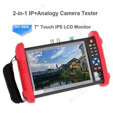 "IPC9800 7"" Touch CCTV CVBS Video HD1080P IP Camera Monitor Wifi Tester POE UTP"