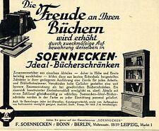 F.Soennecken Bonn IDEAL BÜCHERSCHRÄNKE  Historische Reklame von 1929