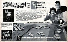 AMT Slot Car Model Racing STOCK CAR Driver Controlled Steering 1962 Magazine Ad