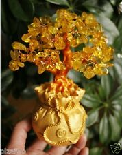 Lucky tree!!! Natural pretty citrine yellow crystal gem tree