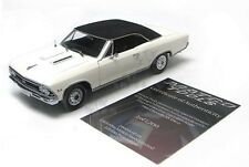 1966 Chevy Chevelle SS 396 1/18 #22 Of 1,200 White Black Top Authentics / Matco