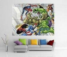 THE AVENGERS ASSEMBLE MARVEL IRON MAN HULK THOR GIANT WALL ART PRINT POSTER H23