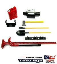 1/10 RC Rock Crawler Scale Red Accessory Tool Set for SCX10, Wraith (USA Seller)
