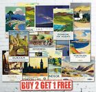 Vintage British Travel Railways LNER GWR LMS Train Retro Posters Card A5/A4/A3