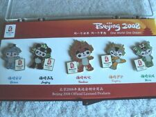 Beijing 2008 Olympics MASCOT PINS Set of 5 NEW in Box