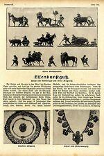 Eisenkunst Eisenguß Eisenerne Ketten Biedermeierzeit * Bildreportage v.1916