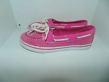 Youth Girl 2.5 Sperry Top Sider Biscayne 1 Eye Hot Pink Boat Shoes