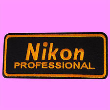 Nikon Professional Camera Logo Photographer Jacket Bag Iron On Embroidered Patch