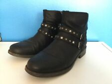 UGG Women's Sheepskin Insole Lining Leather Ankle Boots Size 7.5-8