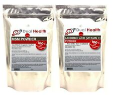 (2 lbs Each) MSM & Ascorbic Acid Vitamin C Powder Non GMO Pharmaceutical Grade