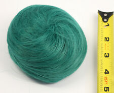 5'' Spiral Drawstring Bun w/ Combs Viridian Green Blue Cosplay Wig Hair NEW