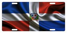 Rep Dominicana Flag Custom License Plate Dominican Emblem Wave Version # 3