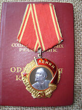 RUSSIAN SOVIET RUSSIA USSR MEDAL PIN BADGE ORDER of Lenin Document Gramota