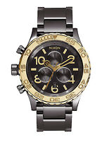 New Nixon A0371228 42-20 Chrono Gun N Gold Watch NIB