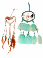 "280,14 Two Dream Catcher Set Heart & Circle 3"" Handcrafted Children Gift Sleep"