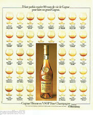 PUBLICITE ADVERTISING 036  1978  Hennessy cognac fine Champagne VSOP